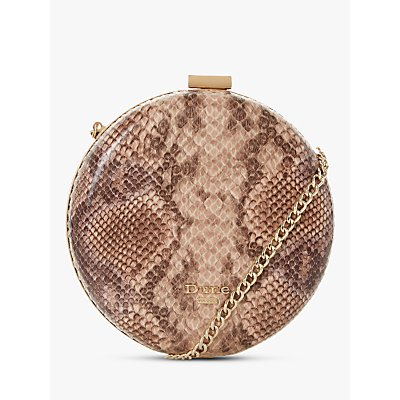 Dune Beautey Circle Clutch Bag, Natural