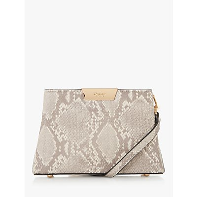 Dune Eleah Reptile Print Clutch Bag