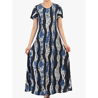 Jolie Moi Print Cap Sleeve Maxi Dress, Navy/Multi