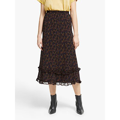 Gestuz Almina Printed Skirt, Black Multi
