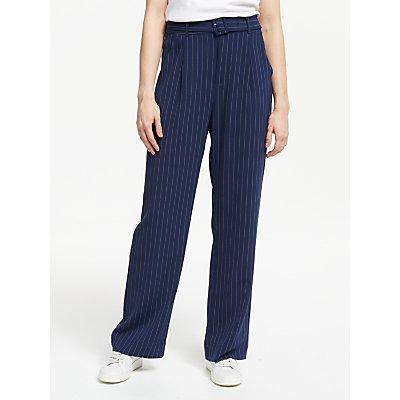 Gestuz Kine Stripe Straight Fit Trousers, Navy