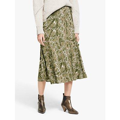 AND/OR Sasha Snake Print Skirt, Green