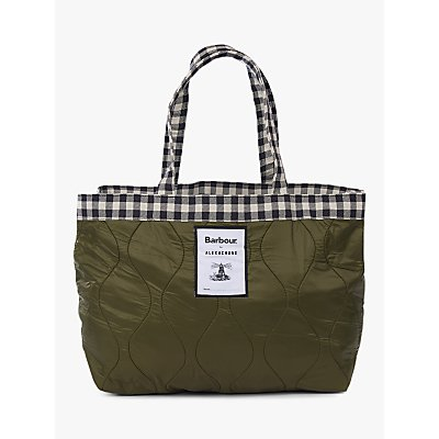 Barbour by ALEXACHUNG Stanley Quilted Tote Bag, Military Green