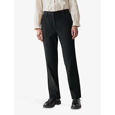 Toast 8 Wale Cord Straight Leg Trousers, Brown Slate
