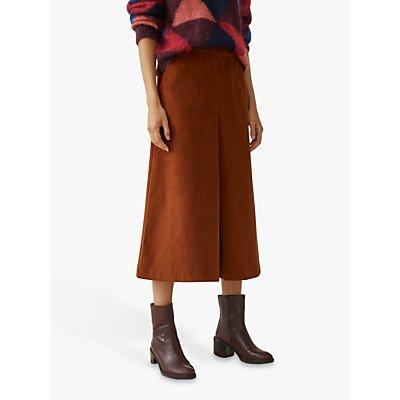 Toast Cord Pleat Front Skirt