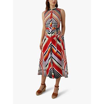 Karen Millen Abstract Pattern Cotton Dress, Multi