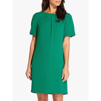 Adrianna Papell Puff Sleeve Shift Dress, Emerald