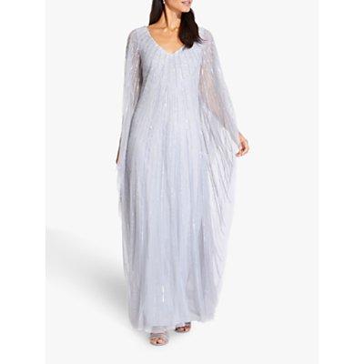 Adrianna Papell Beaded Kaftan Dress, Cloud