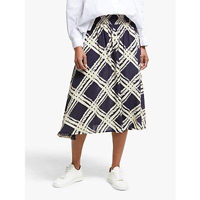 Masai Copenhagen Sondra Check Print Skirt, Navy/Multi