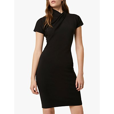 French Connection Raakel Beau Twist Dress, Black