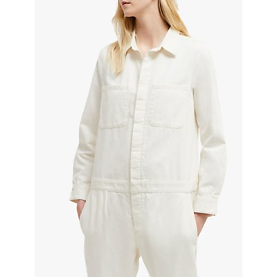 French Connection Mardo Cotton Boilersuit, Winter White