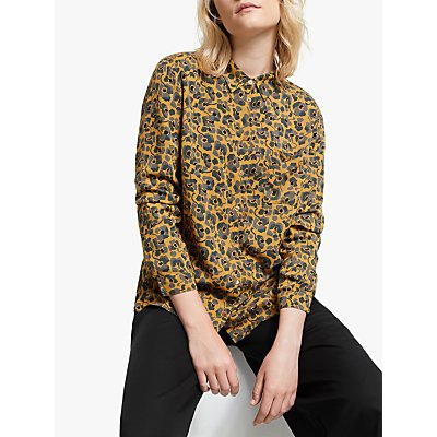 ARMEDANGELS Taaimi Camou Floral Blouse, Caramel Butter