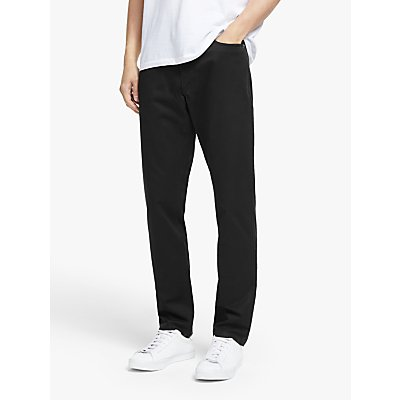John Lewis & Partners Ashton Five Pocket Slim Fit Chinos, Black