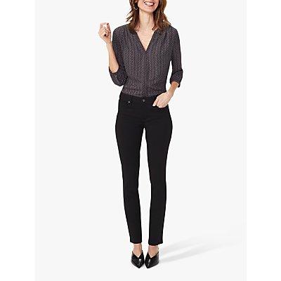 NYDJ Sheri Slim Leg Ponte Trousers, Black