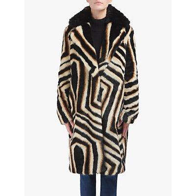 urbancode Zinnia Faux Fur Coat, Multi