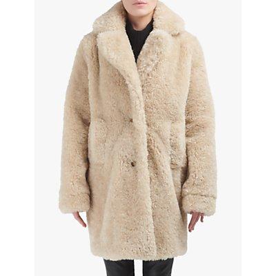 urbancode Teddy Faux Fur Coat, Driftwood