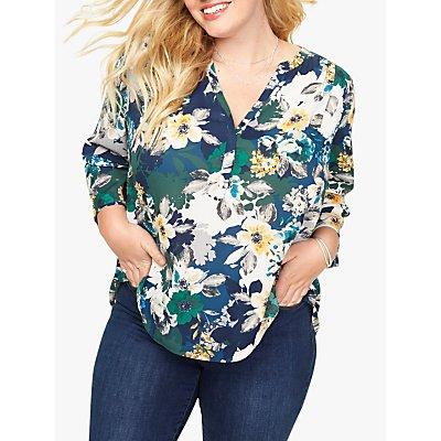 NYDJ Pleat Back Floral Print Blouse, Belvedere Blossom