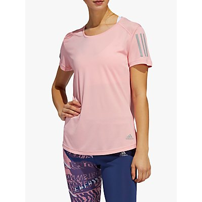 adidas Own The Run Short Sleeve Running Top, Glory Pink