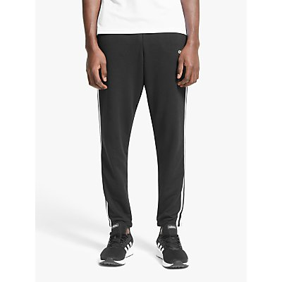 adidas Essentials 3-Stripes Jogging Bottoms, Black