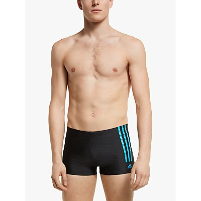 adidas Fitness Semi 3-Stripes Swim Boxers, Black
