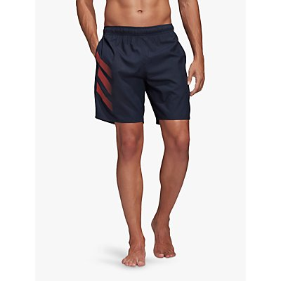 adidas Bold 3-Stripes CLX Swim Shorts, Legend Ink