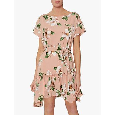 Gina Bacconi Istra Floral Pebble Georgette Dress, Blush