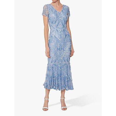 Gina Bacconi Joan Beaded Midi Dress
