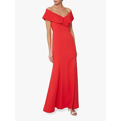 Gina Bacconi Maira Crepe Maxi Dress