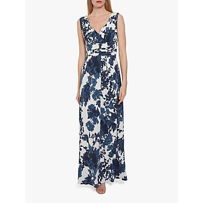 Gina Bacconi Maliana Floral Print Jersey Maxi Dress, Navy
