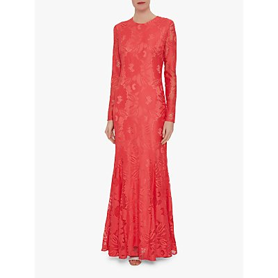 Gina Bacconi April Stretch Lace Maxi Dress