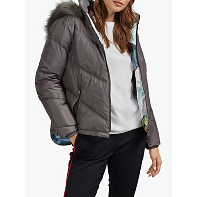 Ted Baker Lavenia Quilted Faux Fur Jacket