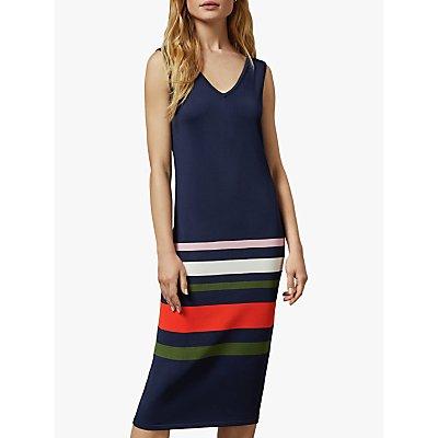 Ted Baker Marpee Colour Block Dress, Dark Blue