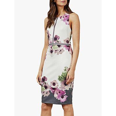 Ted Baker Nanina Floral Dress, Grey Light