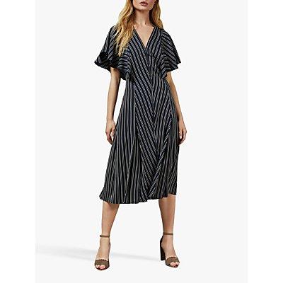 Ted Baker Flissie Striped Midi Dress, Navy/Multi