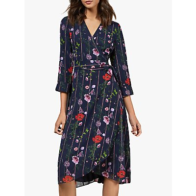Ted Baker Elowisa Floral Wrap Dress, Dark Blue