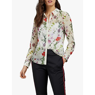 Ted Baker Shivany Floral Blouse, Ivory
