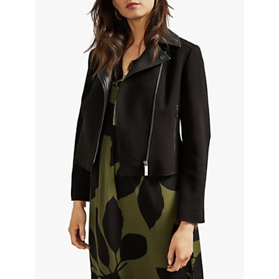 Ted Baker Topas Biker Jacket, Black