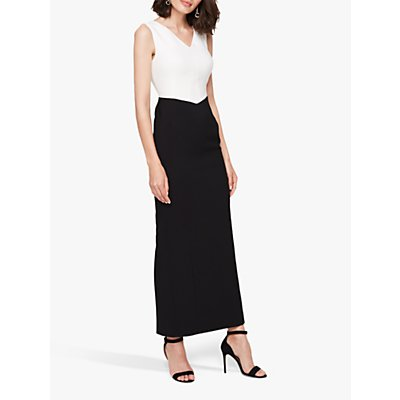 Damsel in a Dress Monique Colourblock Maxi Dress, Black/White