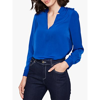 Damsel in a Dress Hailey V-Neck Blouse, Blue