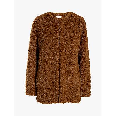 Max Studio Teddy Faux Fur Jacket, Cognac