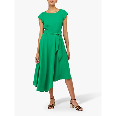 Monsoon Francoise Fit & Flare Dress, Green