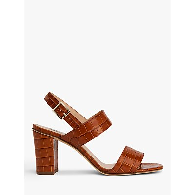 L.K.Bennett Rhiannon Croc Sandals, Brown