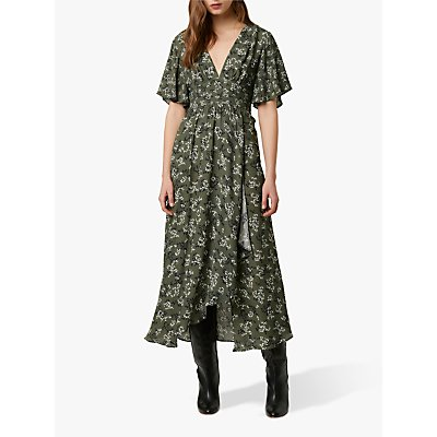 French Connection Ansa Floral Print Maxi Dress, Aspen Green