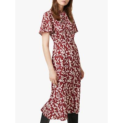 French Connection Bruna Dress, Rhubarb/Cream