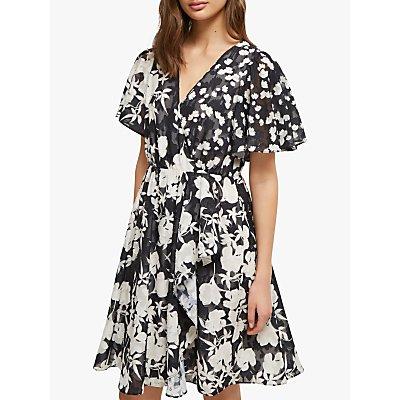 French Connection Bamba Dress, Black/Cream