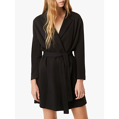 French Connection Sadira Wrap Dress, Black