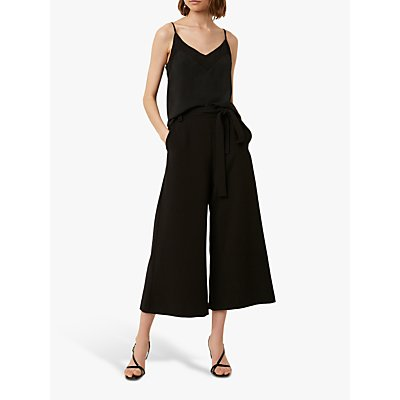French Connection Whisper Flare Tie Waist Trousers, Black
