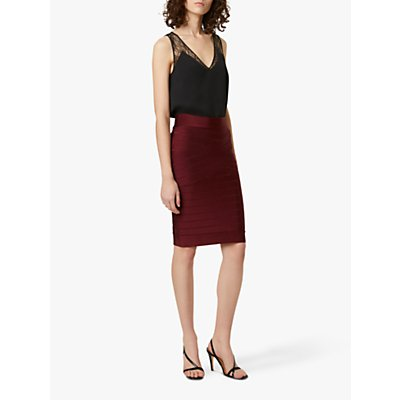 French Connection Zasha Spotlight Skirt, Berry Blush