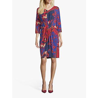 Betty Barclay Floral Print Dress, Dark Blue/Red