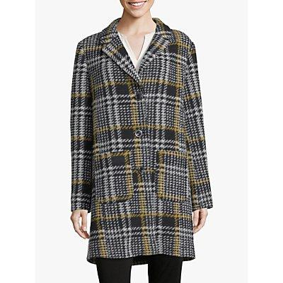 Betty Barclay Check Coat, Black/Yellow